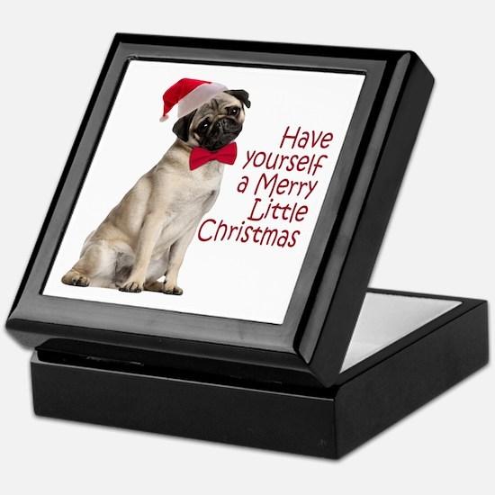 Santa Pug Keepsake Box