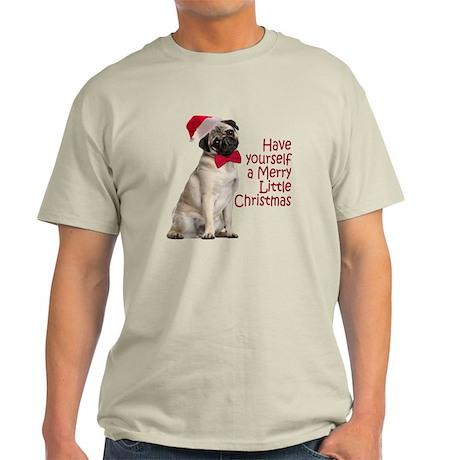 Santa Pug Light T-Shirt