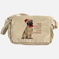 Santa Pug Messenger Bag