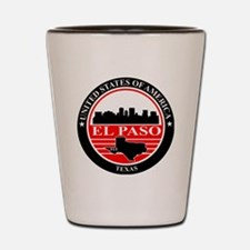 El paso logo black and red Shot Glass