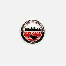 El paso logo black and red Mini Button
