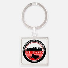El paso logo black and red Square Keychain