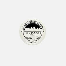 El Paso logo white and black Mini Button