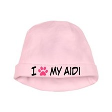 I Heart My Aidi baby hat