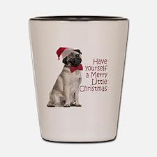 Santa Pug Shot Glass