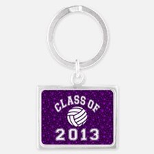 Class Of 2013 Volleyball Landscape Keychain