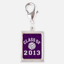Class Of 2013 Volleyball Silver Portrait Charm
