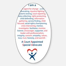 I am a CASA Sticker (Oval)