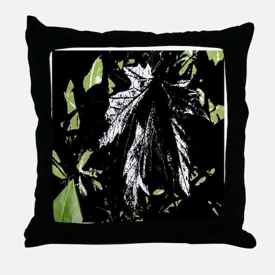 Leaf Curtain Throw Pillow