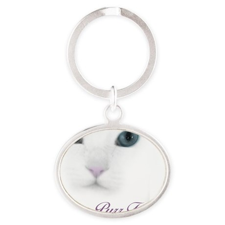 Purrfect Oval Keychain
