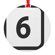 number 6 six  Ornament