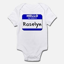 hello my name is roselyn  Infant Bodysuit