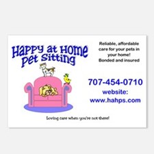 Happy at Home Pet Sitting Postcards (Package of 8)