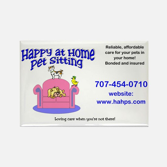 Happy at Home Pet Sitting Rectangle Magnet