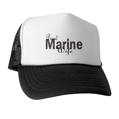 Camo....Proud marine wife Trucker Hat