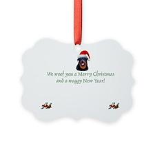 Rottie Rottweiler Christmas Ornament