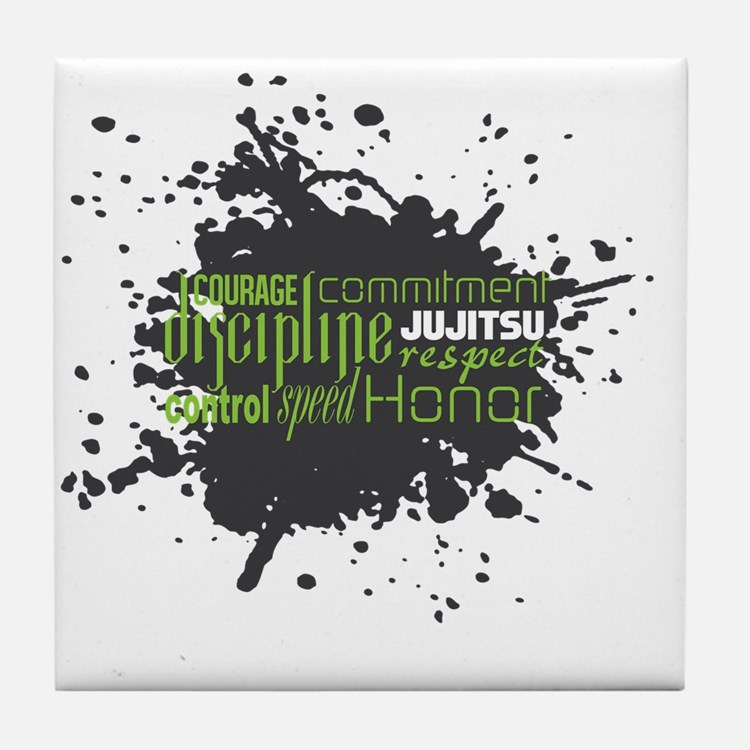 Jujitsu Inspirational Splatter Tile Coaster