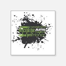 "Jujitsu Inspirational Splat Square Sticker 3"" x 3"""