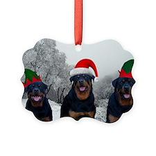 Rottweiler Santa Ornament