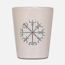 Silver Viking Compass Shot Glass