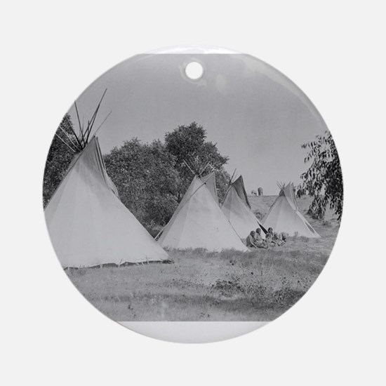 Camp Life NDN History Ornament (Round)