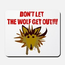 Scrappy Wolf: Don't Let it Out! Mousepad