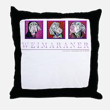 Weimaraner Trio Throw Pillow