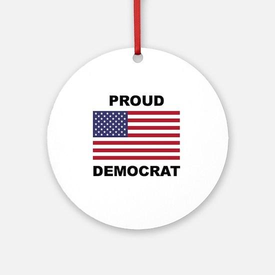 Democrat Pride (Flag) Round Ornament
