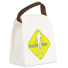 Zombie crossing Canvas Lunch Bag