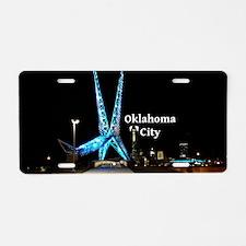 OklahomaCity_5x3rect_sticke Aluminum License Plate