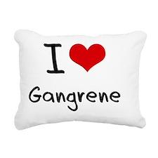 I Love Gangrene Rectangular Canvas Pillow