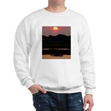 Fire ball in the sky sunset Sweatshirt