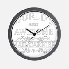 mail carrier Wall Clock