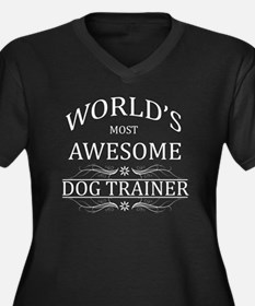 dog trainer Women's Plus Size Dark V-Neck T-Shirt