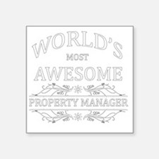 "property manager Square Sticker 3"" x 3"""