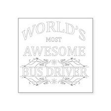 """bus driver Square Sticker 3"""" x 3"""""""