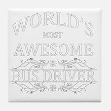 bus driver Tile Coaster