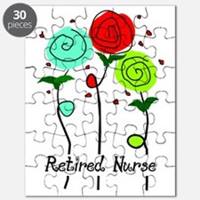 Retired Nurse Floral Puzzle