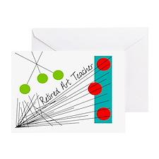 Retired Art Teacher Greeting Card