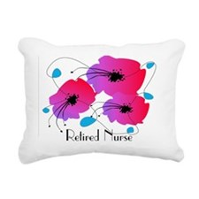 Retired Nurse Fuschia Fl Rectangular Canvas Pillow