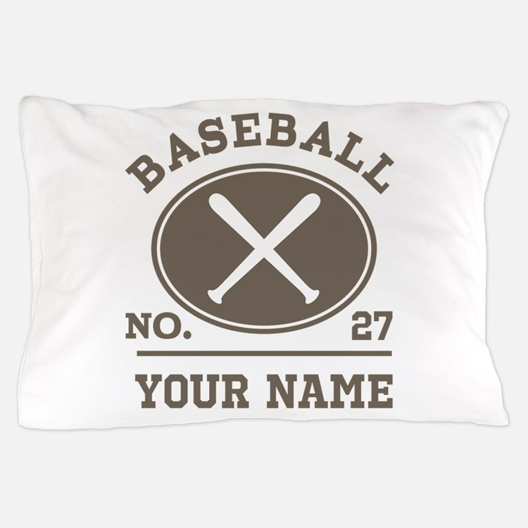 Personalized Baseball Number Player Name Pillow Ca