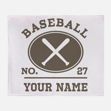 Personalized Baseball Number Player Name Throw Bla