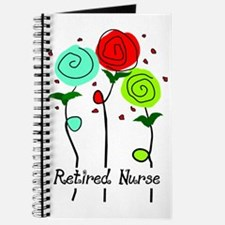 Retired Nurse Floral Journal