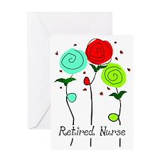 Retired Nurse Floral Greeting Card