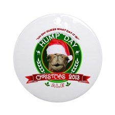 Hump Day Camel Christmas Ale Label Ornament (Round
