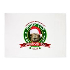 Hump Day Camel Christmas Ale Label 5'x7'Area Rug