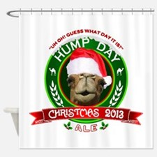 Hump Day Camel Christmas Ale Label Shower Curtain