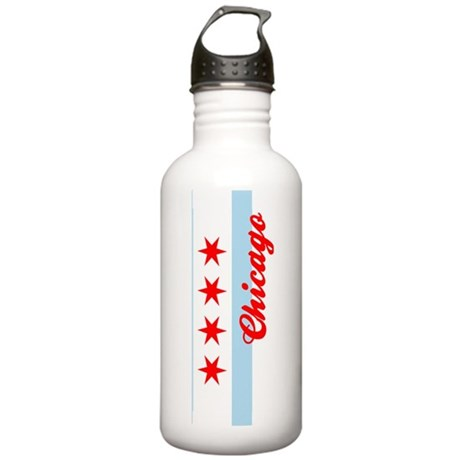 Chicago Flag Sporty Stainless Water Bottle 1.0L