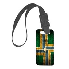 Portland Oregon Flag Grunge Luggage Tag