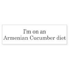 Armenian Cucumber diet Bumper Bumper Bumper Sticker